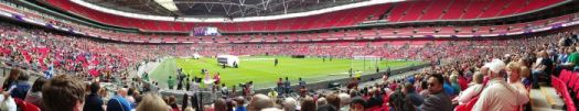 Wembley view from block 137