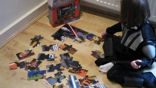 Star Wars Reads Day Darth Vader doing jigsaw