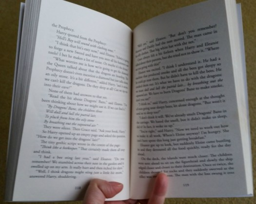 Book text size in Guardians of the Scroll
