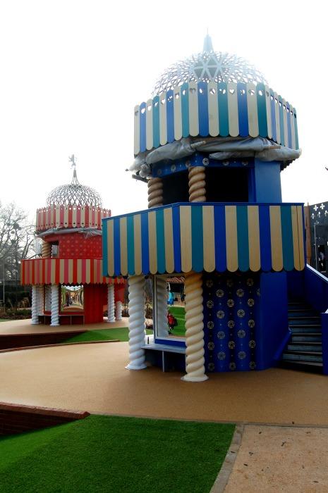 Hampton Court Magic Garden towers with mirrors