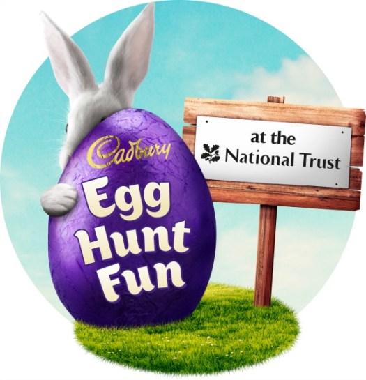 National Trust and Cadbury Easter Egg Hunts logo