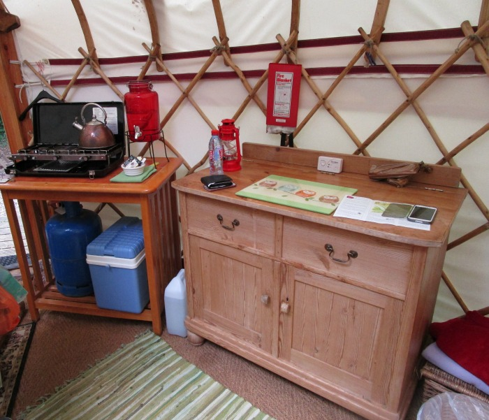 yurt food area