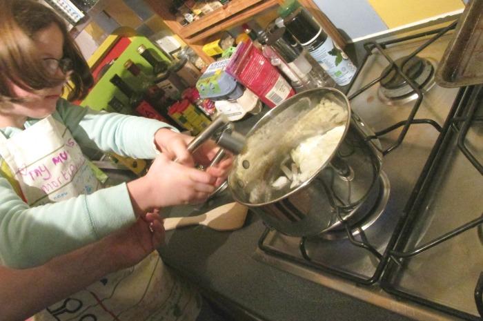 add garlic to butternut squash risotto