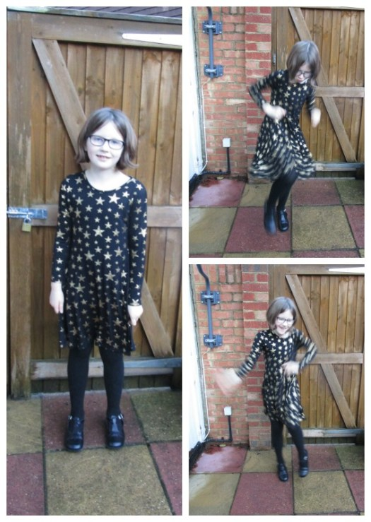 Boohoo kids star skater dress