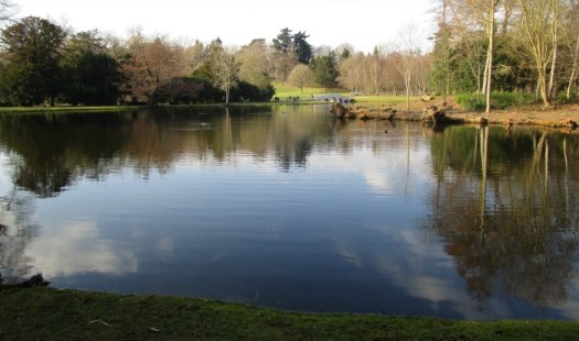 Painshill Park looking towards the five arch bridge