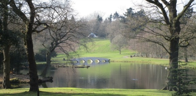 Painshill Turkish Tent and Five Arch Bridge