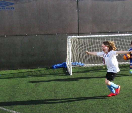 scoring a goal in football