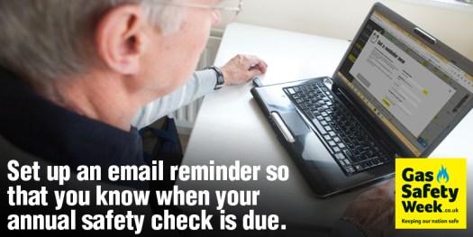 Tip 6 - Setup a reminder - Gas Safety Week 2017