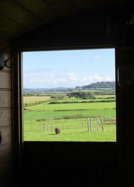 Woodspring Farm Hut view