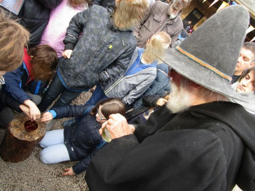 helping the Alchemist at Alnwick Castle make dragons blood