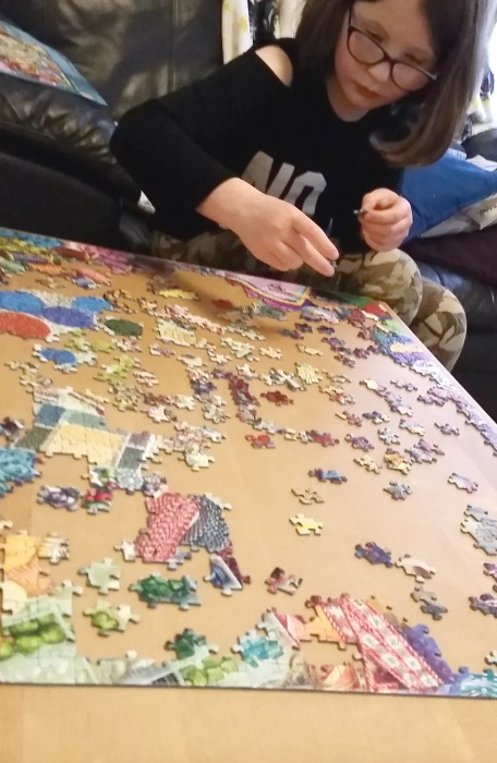 doing the Ravensburger make it medley jigsaw
