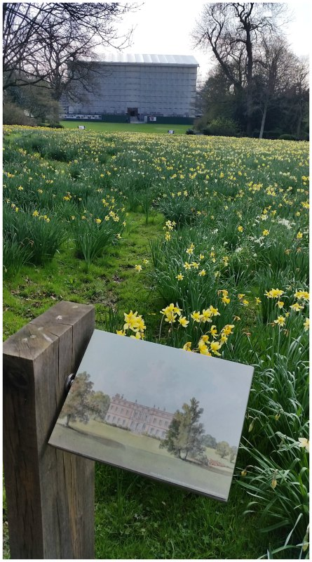 Clandon Park after the fire. Before and after