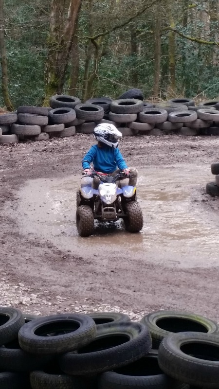 quad biking at PGL Marchants Hill
