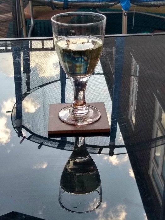 Moto G6 wine glass reflection