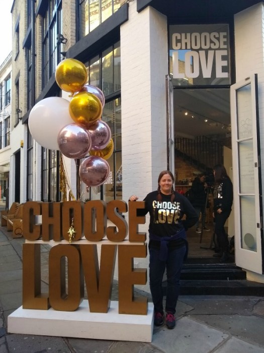 Choose Love - Help Refugees Covent Garden pop up Store