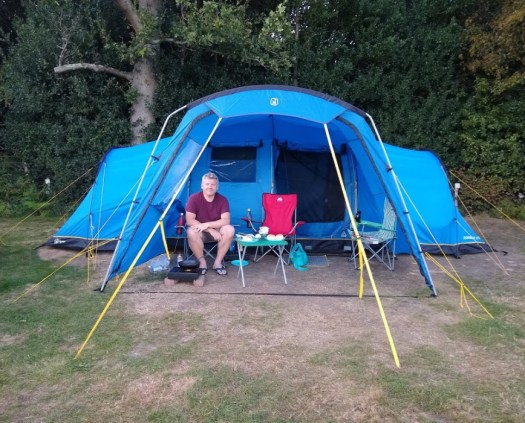 Zenobia Eclipse 6 tent with porch on campsite. Bought a tent.