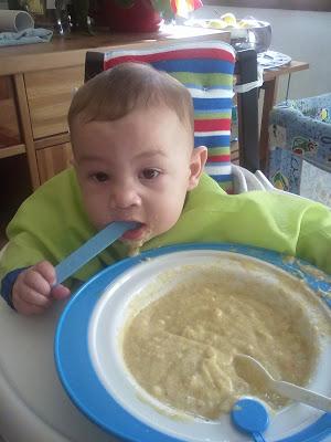 prima pappa svezzamento bambino farina lattea