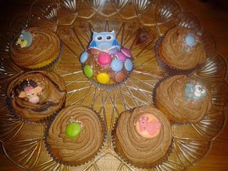 cupcakes con ganache al cioccolato