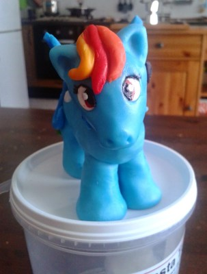 Rainbow Dash, My Little Pony in pasta di zucchero