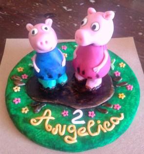 peppa & george pig cake topper