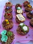 cupcake con miniature di verdure