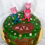 Torta Peppa Pig per Maya