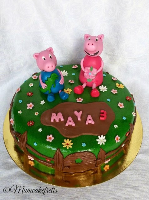 3th Birthday Peppa Pig · Peppa Pig Cake