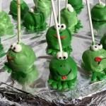cakepops-frog, cakepops ranocchie
