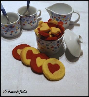 ricette san valentino: biscotti bi colore
