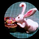 tutorial coniglietto pasta di zucchero