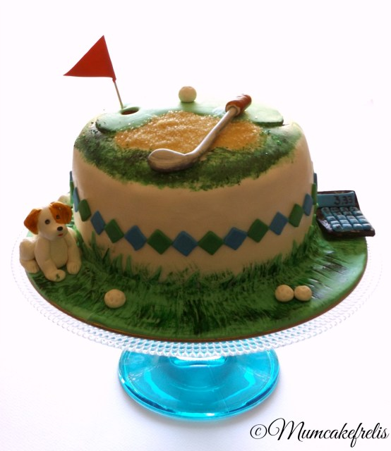 golf buble cake