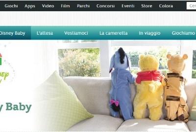 Il nuovo sito Disney Baby
