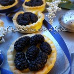 Crostatine con more di gelso – Mulberries tart