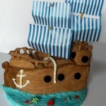 Torta nave dei pirati – pirate ship cake