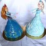 Frozen Elsa E Anna Cake Doll