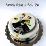 Batman Robin Ben Ten cake