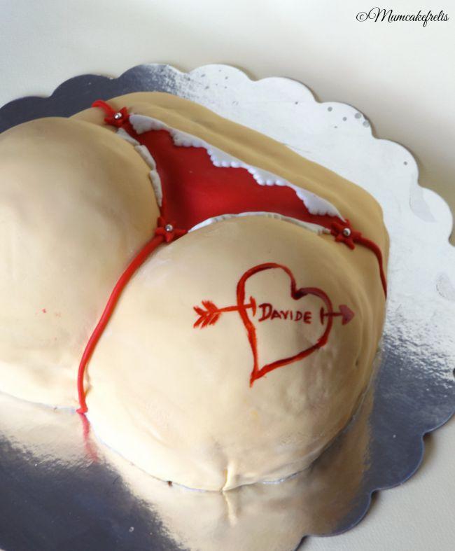 Torta sedere femminile per addio al celibato, torte decorate a forma di sedere, Torta Perizoma con culo, perizoma, sedere, tanga, Torta spiritosa e molto semplice da realizzare, Buttocks cake, Butt cake, Pound Cakes, Booty Lici, bachelor cake.