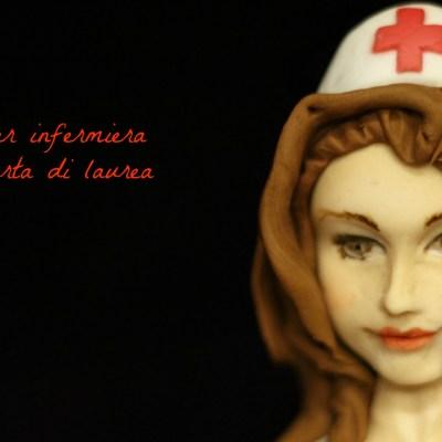 L'infermiera, cake topper per una laurea