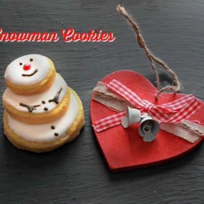 Biscotti pupazzo di neve- Snowman cookie