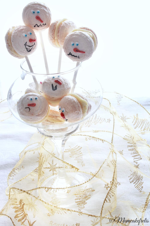macaron pupazzi di neve