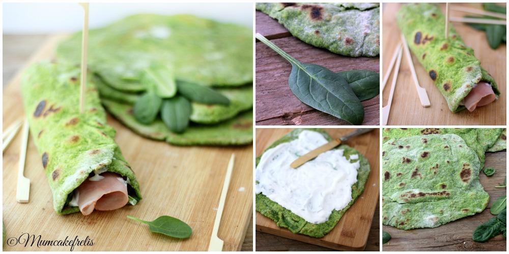 Piadina con spinaci