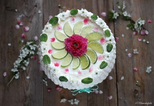 Fresh Lime mint Chiffon Cake Recipe