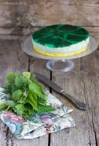 cheesecake salato alle ortiche