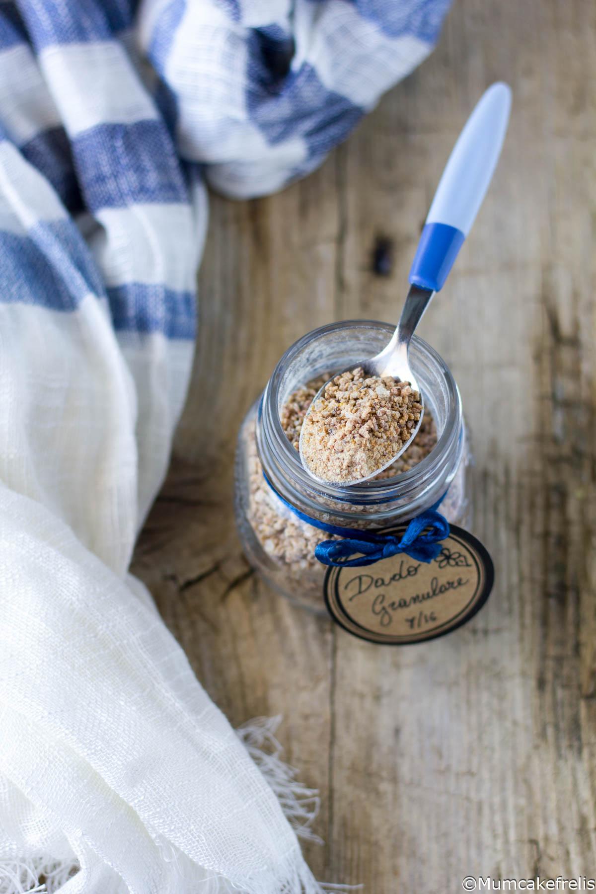 ricetta dado granulare vegetale fatto in casa