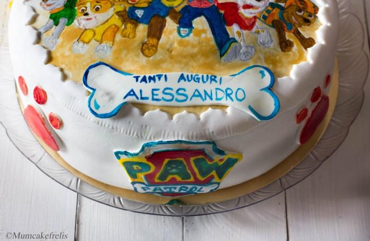 Paw patrol cake con fragole