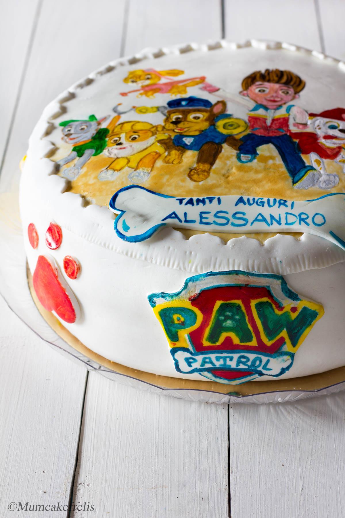 paw patrol cake bakery
