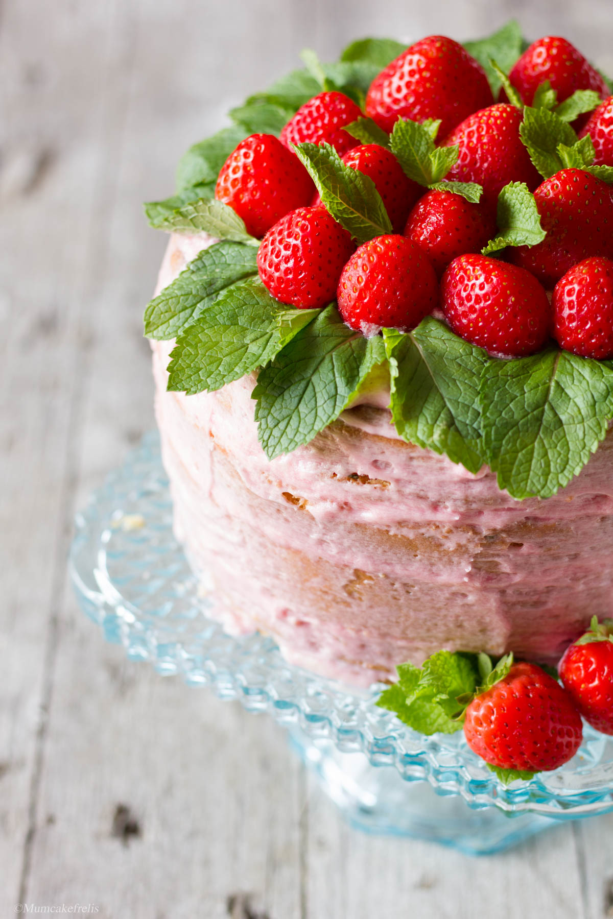 naked cake con fragole