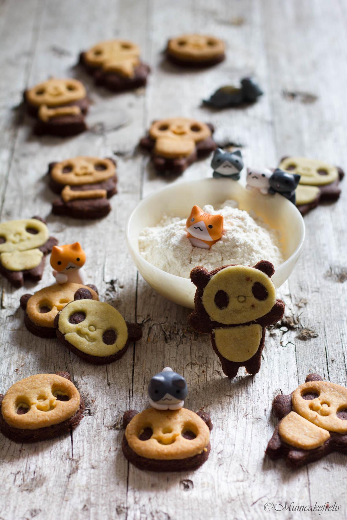 biscotti a forma di panda