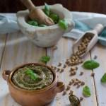 Hummus di ceci e pesto; come farlo in casa.