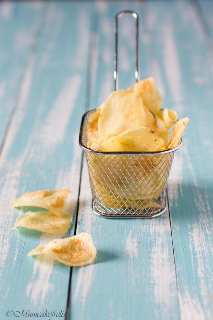 Patate chips fatte in casa, patatine croccanti come quelle in busta!